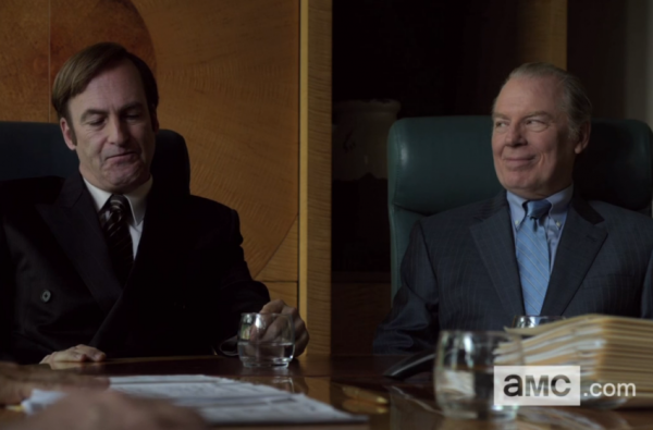 chuck with jimmy in law firm on better call saul 2015