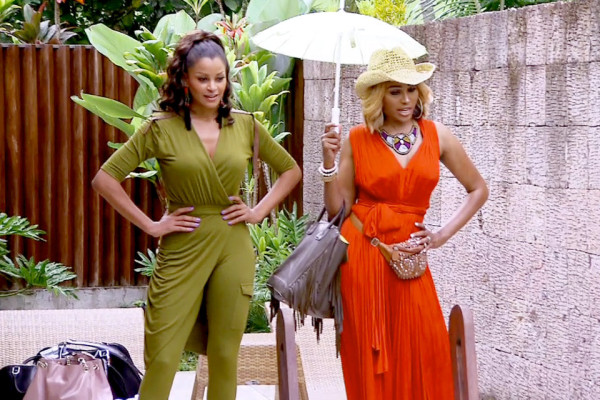 claudia jordan with cynthia baily real housewives of atlanta manilla 2015 images
