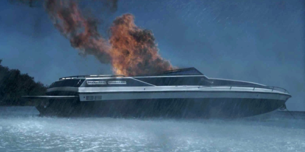 danny rayburn burning on boat in bloodline 2015