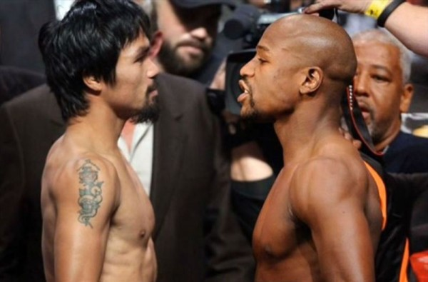 floyd mayweather with manny pacquiao boxing match 2015