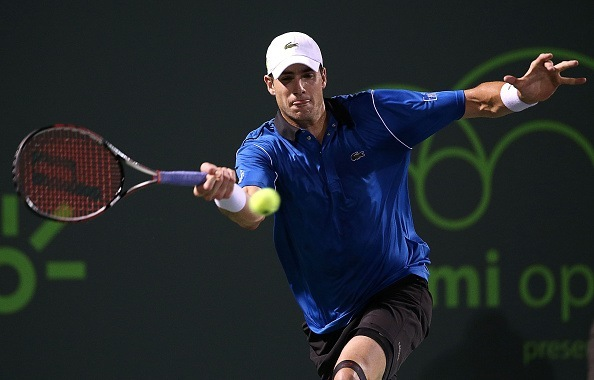 john isner attacks kei nishikoris balls at 2015 miami open masters semi finals