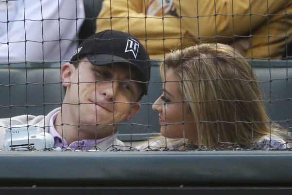 Johnny Manziel at baseball game after rehab 2015