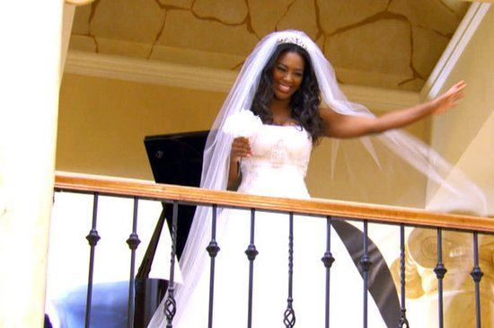 kenya greets party guests for rhoa life twirls on 2015v