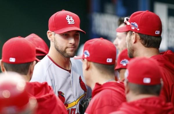 michael wacha pitches for cardinals mlb baseball 2015