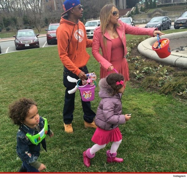 nick cannon with maria carey for easter 2015 gossip