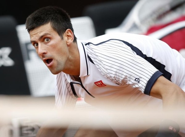 novak djokovic glimpses david ferrer master balls 2015 miami open 2015