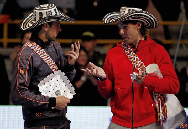 novak djokovic mexican wear with rafael nadal