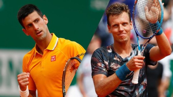 novak djokovic taking on tomas berdych singles 2015 monte carlo masters