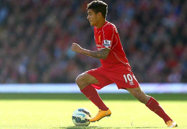philippe coutinho gives liverpool goal for fa cup 2015