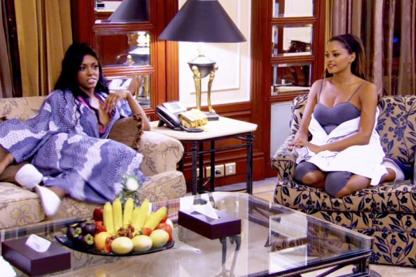 porsha with claudia jordan haning out for real housewives of atlanta manilla 2015