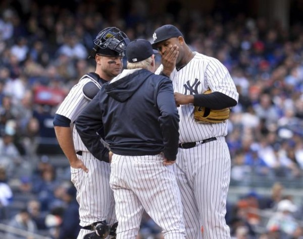 CC Sabathia yankees american league mlb loser 2015