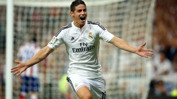 james rodriguez brings in goal for los blancos la liga 2015