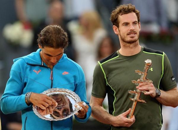 andy murray beats rafael nadal off at 2015 madrid tennis openandy murray beats rafael nadal off at 2015 madrid tennis open