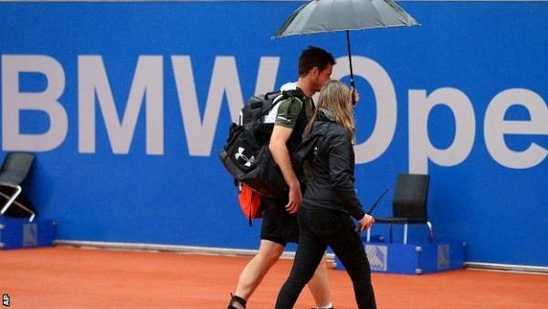 andy murray munich open final delayed by rain 2015