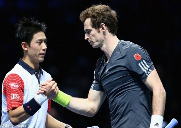 andy murray vs kei nishikori for 2015 madrid open semi finals