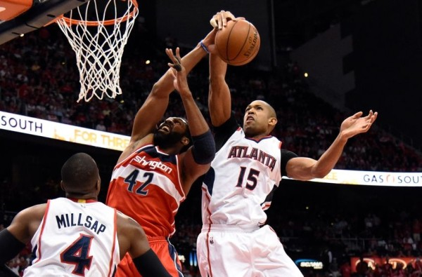 atlanta hawks beat washington wizards nba 2015