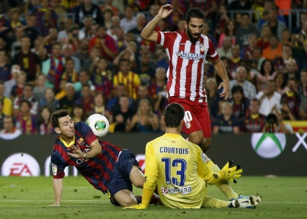 barcelona beats atletico madrid la liga 2015 images