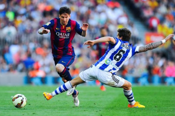 barcelona beats real sociedad la liga soccer 2015
