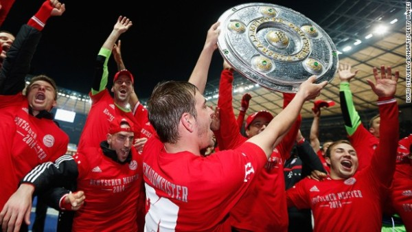 bayern munich clinch title bundesliga