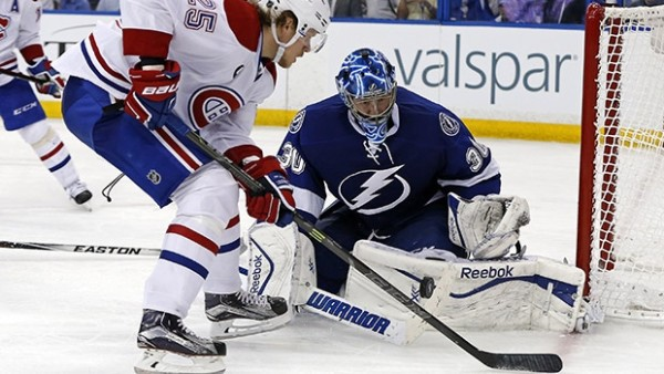ben bishop fighting for goal against canadiens game 4 stanley cup playoffs 2015