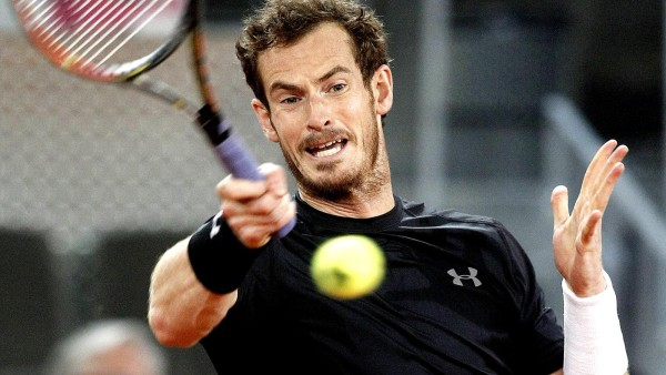 exhausted andy murray pushes into 2015 madrid open quarter finals