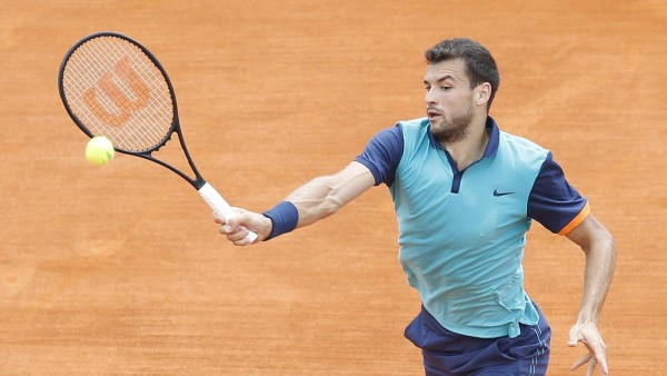 grigor dimitrov advances in 2015 rome masters open