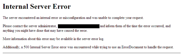 internal server errors and how to avoid 2015