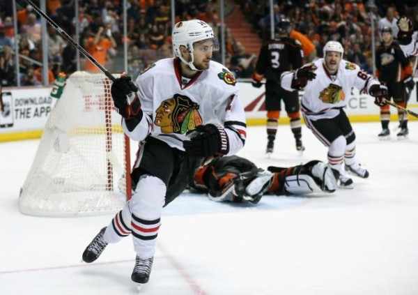 marcus kruger wins for blackhawks vs ducks 2015 stanley cup playoffs
