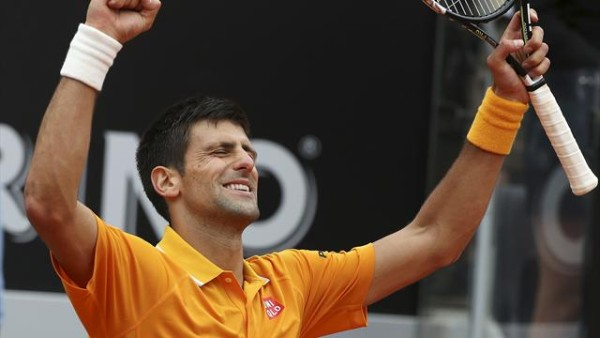 novak djokovic wins 2015 rome open beating roger federer