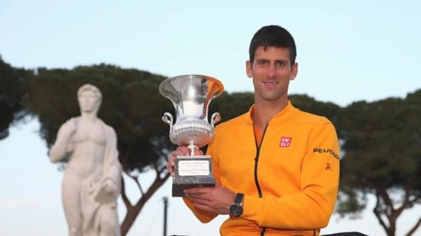 novak djokovic with rome open title 2015