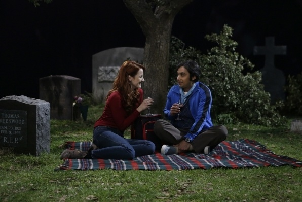 raj in cemetary with emily big bang theory final 823 2015