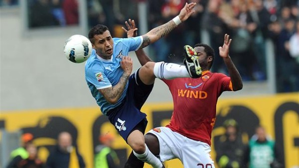 roma vs lazio for second spot serie a soccer 2015