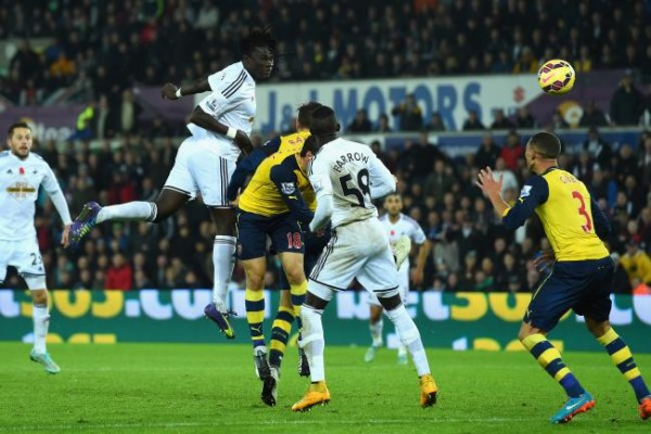 swansea beats arsenal premier league 2015 soccer
