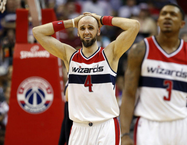 wizards marcin gortat reacts to losing to hawks nba playoffs 2015