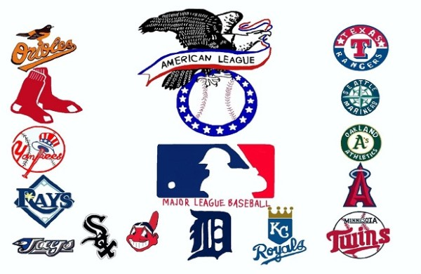 american league mlb baseball logo 2015