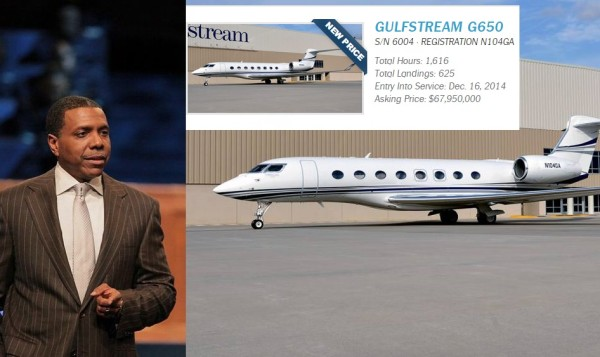 creflo dollar gets gulfstream jet for god work 2015 gossip