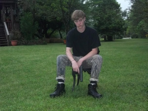 dylann roof sitting outside 2015