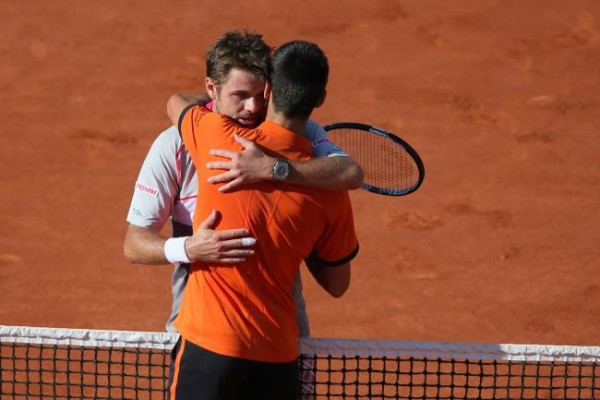novak djokovic rubs up stan wawrinka for 2015 french open