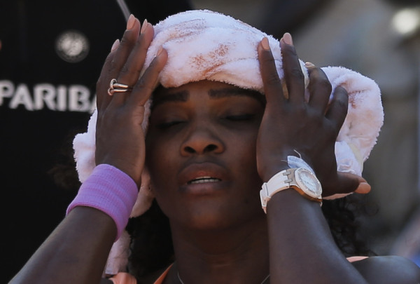 serena williams fighting flu during 2015 french open