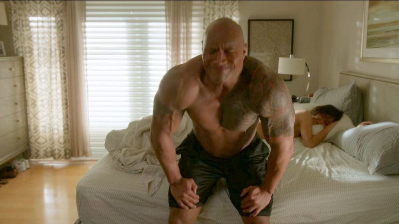 dwayne johnson shirtless