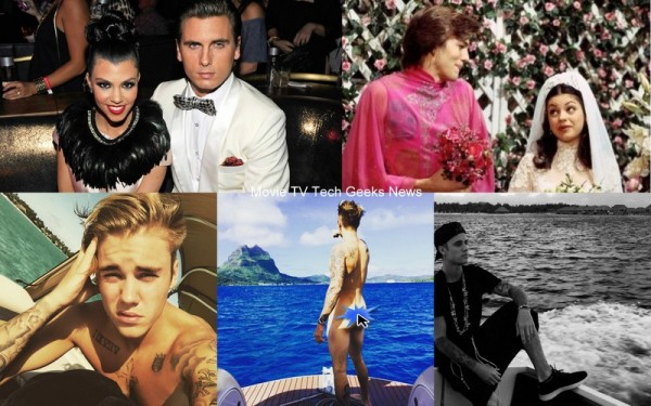 justin bieber bare kourtney kardashian back gossip 2015 images