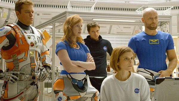 matt damon jessica chastain on the martian movie 2015