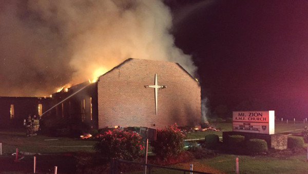 mt zion ame church burns but no media coverage for june 2015