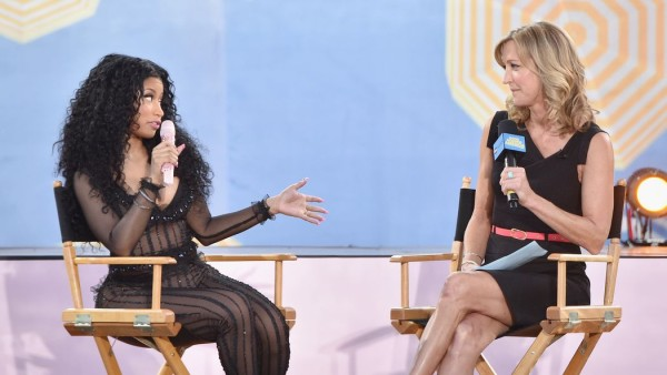 nicki minaj with lara spencer about taylor swift fight 2015 gossip