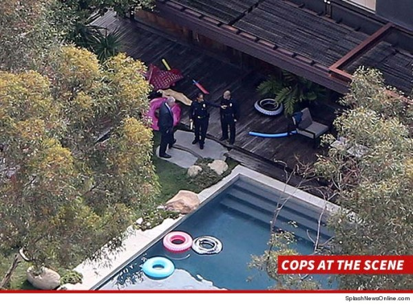 police at demi moore pool where man found dead 2015 gossip