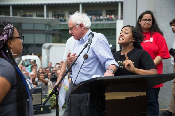 black lives matter two big mistakes push bernie sanders off 2015