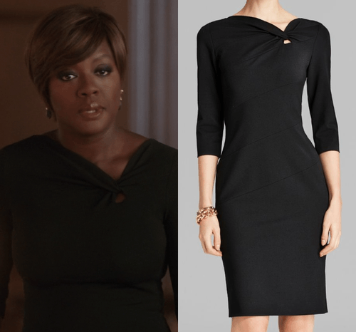 htgawm annalise black power dress 2015