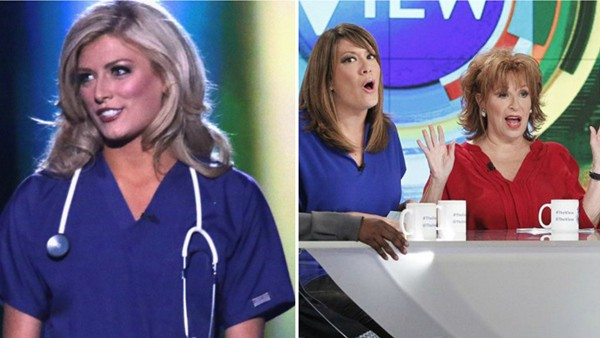 joy behar miss america nurse comment on the view 2015 gossip