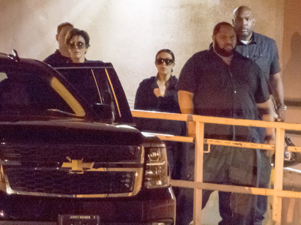 Kim kardashian leaving hospital