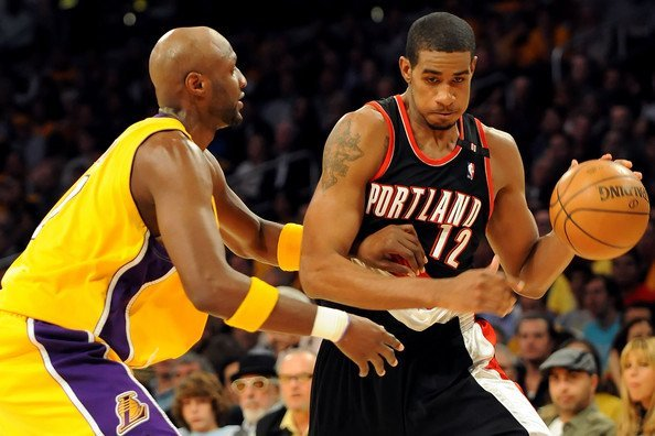 lamar odom with lamarcus aldridge 2015 images